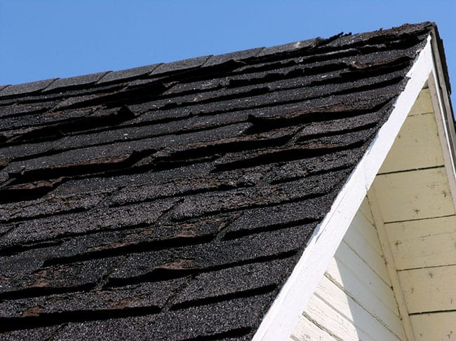 Roof shingles should always lie flat