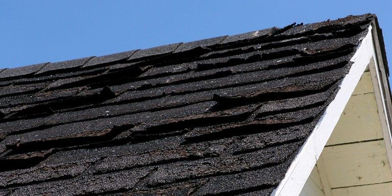 Roof shingles should always lie flat.