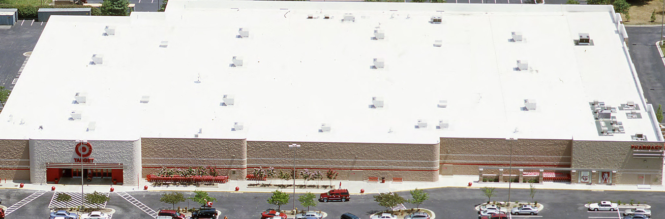 A completed commercial re-roofing project in Colorado Springs
