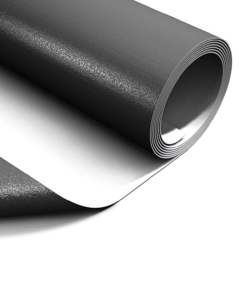 a roll of single-ply PVC membrane