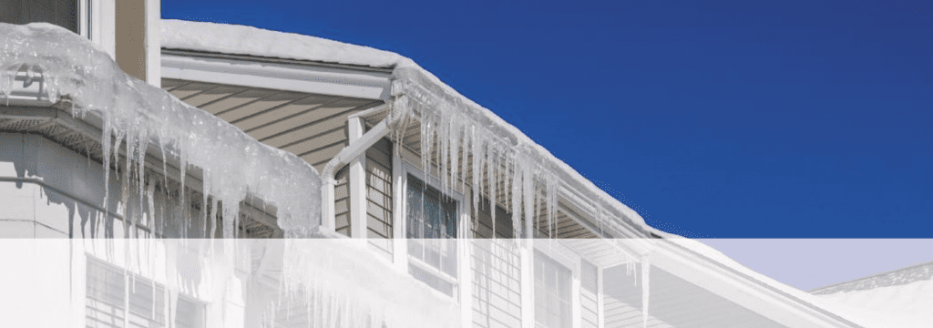 ice damming on home in Colorado