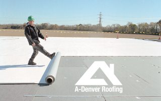 TPO roofing installation on a commercial building in Denver Colorado