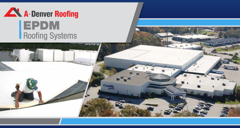 White EPDM installed on a commercial building in Colorado Springs