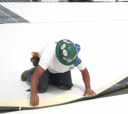 Colorado Springs roofing contractor installing White EPDM
